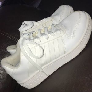 White Adidas CloudFoam Shoes